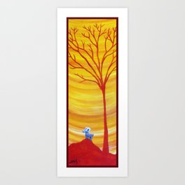 Happy Critter Tree no. 8 Art Print