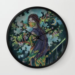 Emerald Nightmare Wall Clock