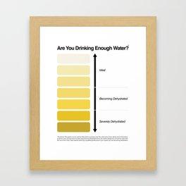 Pee Color Chart / Urine Color Chart Framed Art Print