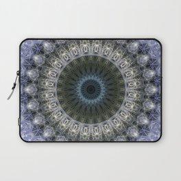 Amethyst mandala with blue star Laptop Sleeve
