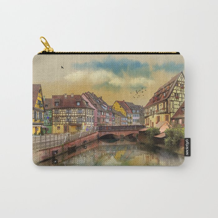 panorama city of Colmar France Carry-All Pouch