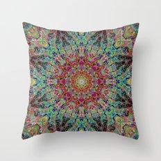 Kaleido-Aura Throw Pillow