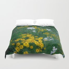 Flowers On the Edge Duvet Cover