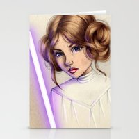 princess leia Stationery Cards featuring Princess Leia by kristen keller reeves