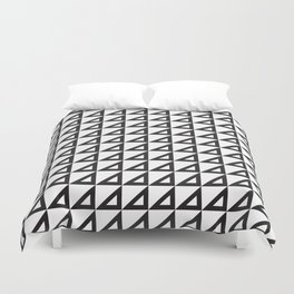 Right triangle mark Duvet Cover