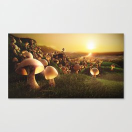 The Mushrooms are Coming Canvas Print