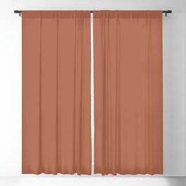 Clay Orange-Brown Solid Color Accent Shade / Hue Matches Sherwin Williams Red Cent SW 6341 Blackout Curtain
