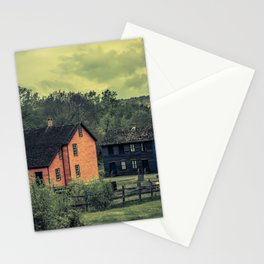 Historic Miners Village Coal Mining Town Pennsylvania Eckley Rural Living Stationery Cards