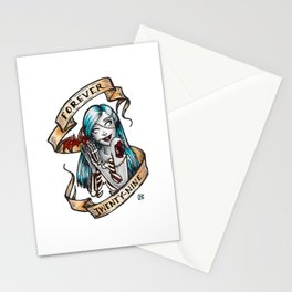 Forever 29 Zombie Girl Stationery Cards