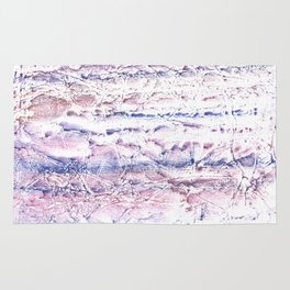 Blue purple marble hand-drawn watercolor pattern Rug