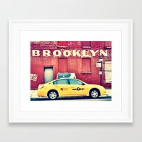 brooklyn Framed Art Prints featuring Brooklyn  by Pinkspoisons
