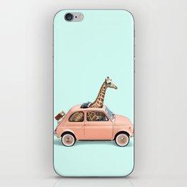GIRAFFE CAR iPhone Skin