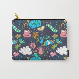 Hand draw autumn doodle pattern. Carry-All Pouch