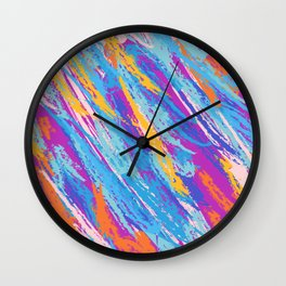 Rebellion of summer colors Wall Clock