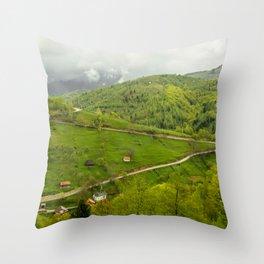 Green late summer. Throw Pillow