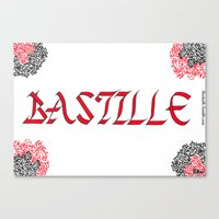 bastille Canvas Prints featuring bastille by Revital Krispin