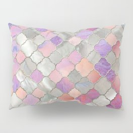 Quatrefoil Moroccan Pattern Mother of Pearl and quartz Pillow Sham