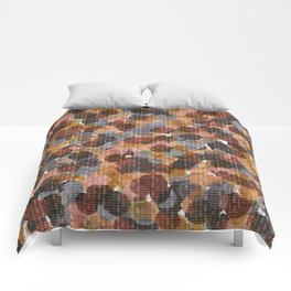 Drop Circles Muted Comforters