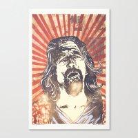 big lebowski Canvas Prints featuring Big Lebowski by Tommy Lennartsson