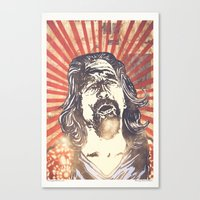 lebowski Canvas Prints featuring Big Lebowski by Tommy Lennartsson