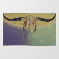 bull Area & Throw Rugs featuring Bull by Michael Creese