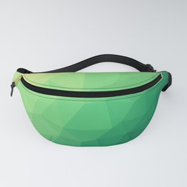 Green abstract geometrical art. Modern geometry style. Gift for him. Triangle design. Polygonal Fanny Pack