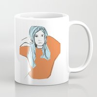 sweater Mugs featuring Sweater Weather by Kelly Lindstrom