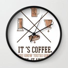 Its Coffee Wall Clock