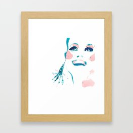 Pretty Fun Thing - Fashion Illustration Framed Art Print