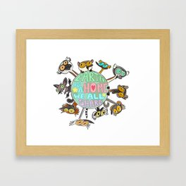 Earth Is a Home We All Share Framed Art Print