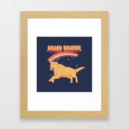 Golden Believer Framed Art Print