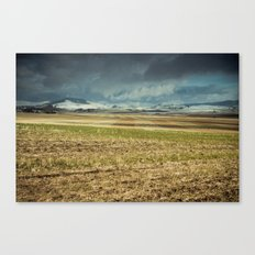 Winter's First Glance Canvas Print