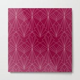 Art Deco in Raspberry Pink Metal Print