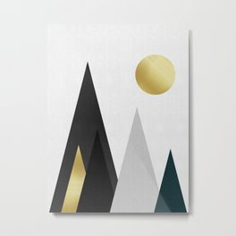 Fashion landscape with gold II Metal Print
