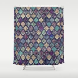 Moroccan Tile Design In Retro Colors Shower Curtain