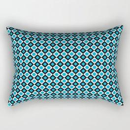 check it blue Rectangular Pillow