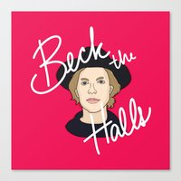 cassia beck Canvas Prints featuring Beck the Halls by Chelsea Herrick