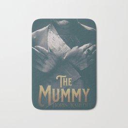 The Mummy, Boris Karloff, 1932 cult horror movie poster, vintage affiche Bath Mat