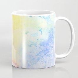 Rainbow Clouds Watercolor Coffee Mug