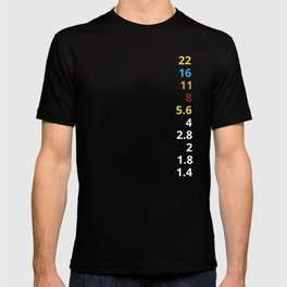 Aperture value F-Stop Minimalist Photography T-shirt