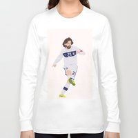 pirlo Long Sleeve T-shirts featuring  Andrea Pirlo by Marwan Baghdadi