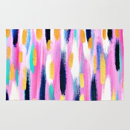 Pink And Navy Abstract Rug