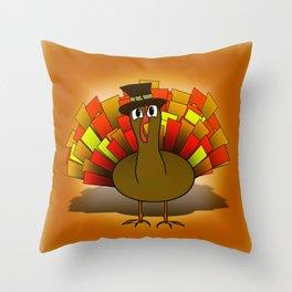 Thanksgiving Turkey Pilgrim Throw Pillow