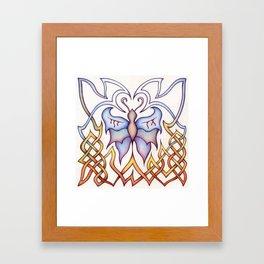 Celtic Butterfly Framed Art Print