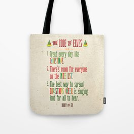 Buddy the Elf! The Code of Elves Tote Bag