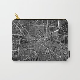 Houston Black Map Carry-All Pouch
