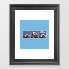 Sloth Coffee Framed Art Print