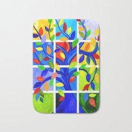 Tree of Life, bright colors Bath Mat