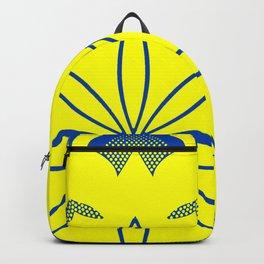 Maize & Blue floral Mandala Backpack