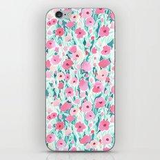 Flower Field Pink Mint iPhone Skin